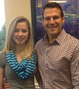 Baker Chiropractic and Wellness Patient Olivia Goines and Dr. Patrick Baker