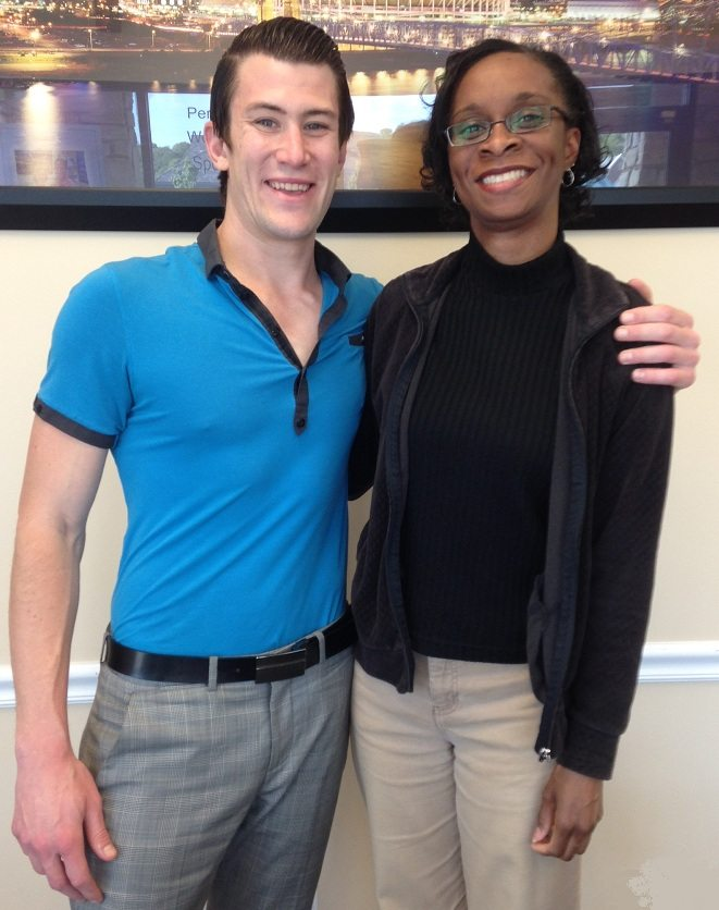 Fairfield, Ohio Chiropractic Patient for neck and shoulder pain Tammy B. with Dr. Brock Frear