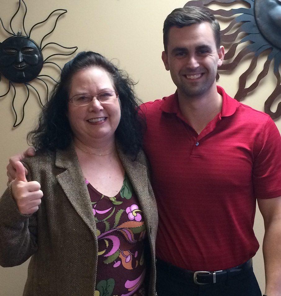 Cherie Broadrick and Dr. Garrett