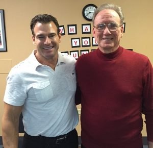 Sciatica Patient Michael Smith and Dr. Paul Baker