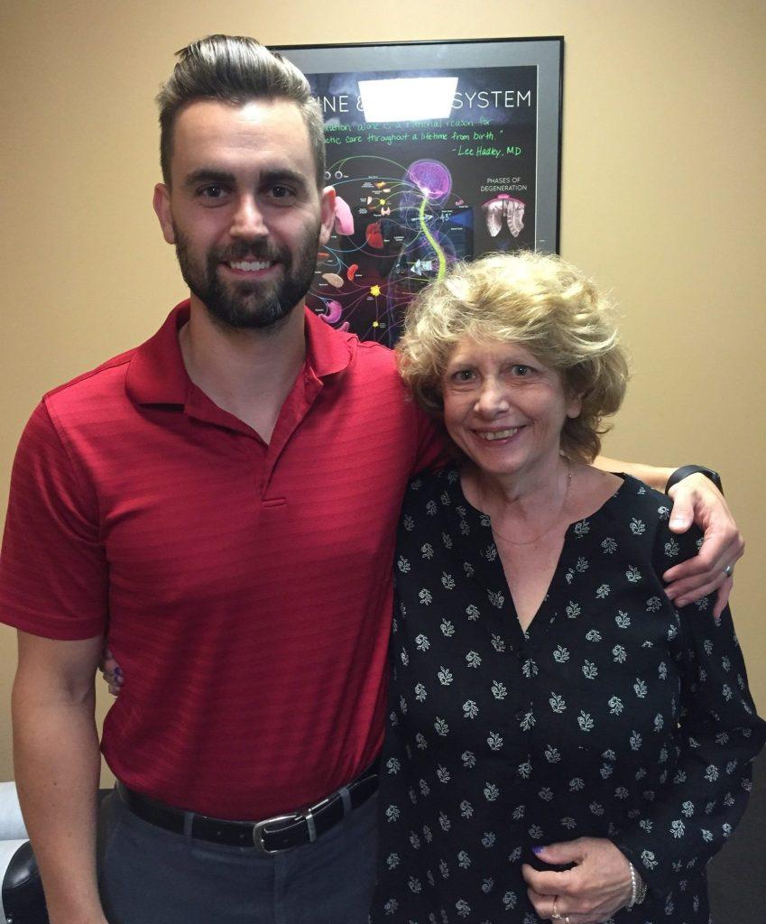 Baker Chiropractic and Wellness Vertigo Patient Adele with Dr. Garrett Knuckles