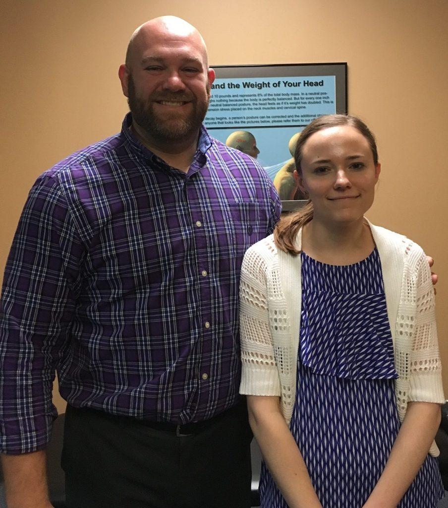 Baker Chiropractic and Wellness Patient Rachel L and Dr. Joe Fields